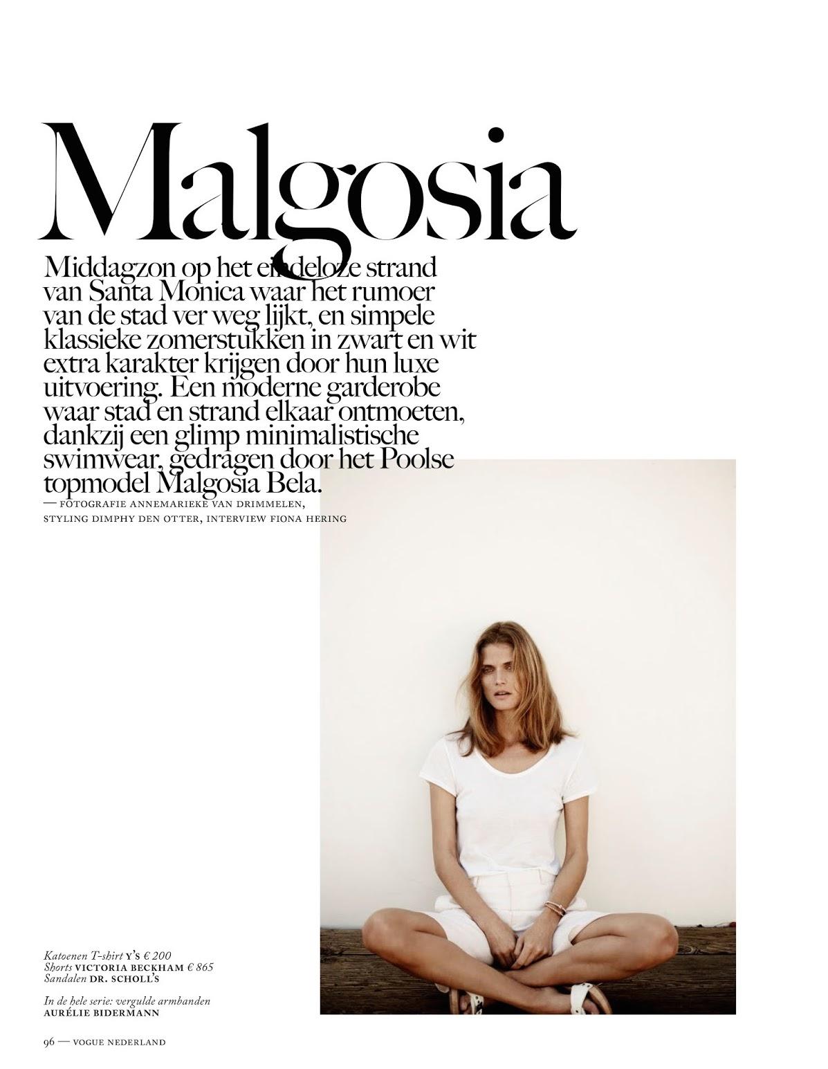 dress - Bela malgosia vogue netherlands julyaugust video