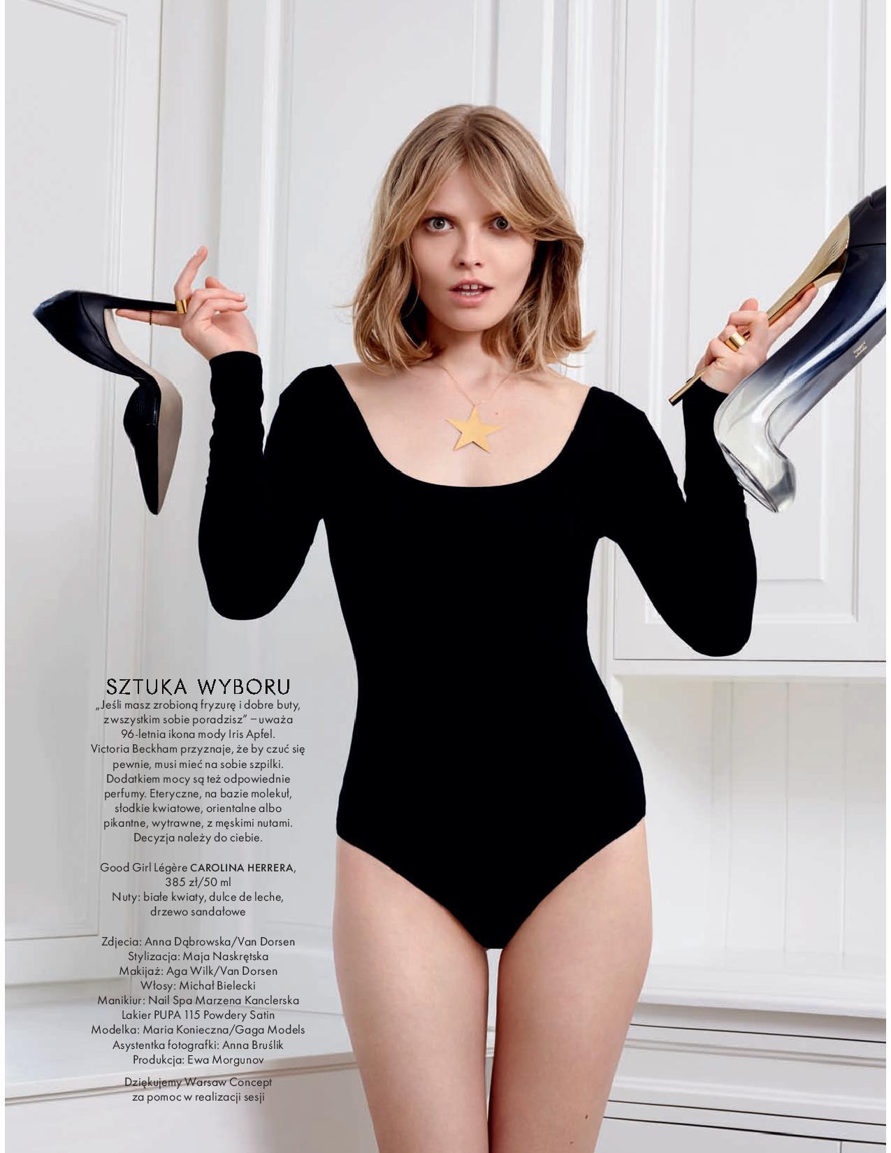 b1093efb27 Model  Maria Konieczna Magazine  Elle Poland Issue  June 2018. Editorial   Ubrana w zapach. Photographer  Ania Dabrowska